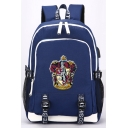 Harry Potter Fashion University Badge USB Charger School Bag Backpack 30*15*44cm