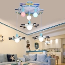 Indoor Decorative Ocean Style Multi Head Sailing Anchor Ceiling Flushmount Light
