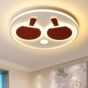 Red Table Tennis Design Lighting Fixture Metal Eye Protection Surface Mount LED Light for Game Room