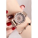 Girls New Fashion Floral Design Dial Waterproof Trendy Watch