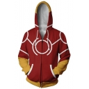 Cosplay Costume Long Sleeve Full Zip Red Hoodie