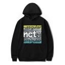 Boy Group New Fashion Letter Pattern Long Sleeve Unisex Relaxed Hoodie