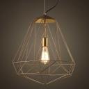 Gold Diamond 1 Light Foyer LED Pendant Lighting 14'' Wide with Single Light