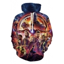 The Avengers 3 Popular 3D Film Figure Printed Sport Loose Pullover Hoodie