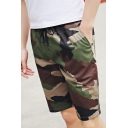 Men's Summer Classic Fashion Camo Print Drawstring Waist Beach Relaxed Shorts