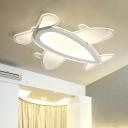 Ultra Thin Prop Plane Flush Mount Game Room Kindergarten Acrylic LED Ceiling Light in Warm/White