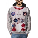 3D Astronaut Graphic Printed Long Sleeve Hoodie
