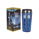 Doctor Who Print Stainless Steel Blue Water Bottle Mug Cup of 401-500ml