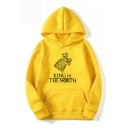 Game of Thrones Wolf Head KING IN THE NORTH Fashion Casual Loose Pullover Hoodie