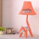 Fox/Lion Table Lamp Boys Girls Bedroom Fabric Shade 1 Head Decorative Reading Light