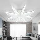 Adorable Wing LED Flush Light Modern Design Nursing Room Acrylic Indoor Lighting in Warm/White