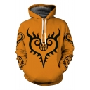 One Piece Classic Logo Printed Long Sleeve Comic Casual Pullover Yellow Hoodie