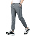Mens Comfort Cotton Drawstring Waist Regular-Fit Casual Sport Sweatpants