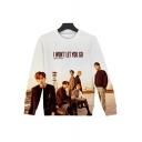 Boy Band Album 3D Figure Pattern Round Neck Casual Long Sleeve Sweatshirt