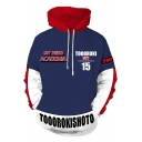 My Hero Academia Colorblocked Long Sleeve Sport Casual Blue Hoodie