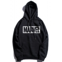 Fashion Simple Square Letter Street Cool Fashion Casual Loose Hoodie