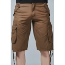 Men's New Stylish Fashion Ribbon Detail Cotton Casual Military Cargo Shorts