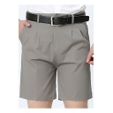 Men's Basic Simple Plain Summer Cotton Straight Tailored Chino Shorts