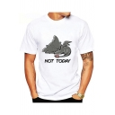 How to Train Your Dragon New Stylish NOT TODAY Popular Letter White Basic T-Shirt