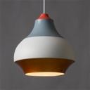 Multi Colored Gourd Hanging Lamp Modern Fashion Aluminum 1 Bulb Art Deco Ceiling Pendant Light