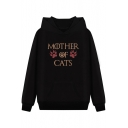 Funny Letter MOTHER OF CATS Claw Printed Unisex Warm Thick Fitted Hoodie