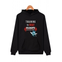 Cartoon Comic Character Print Unisex Relaxed Fit Hoodie
