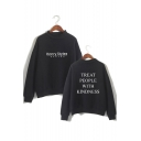 Harry StylesTreat People With Kindness Mock Neck Long Sleeve Pullover Sweatshirt
