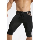 Mens Cool Mesh Grid Drawstring-Waist Simple Plain Quick-Dry Skinny Fit Training Shorts