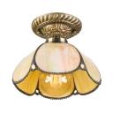 Dome Tiffany Downward Semi Flush Mount Ceiling Light
