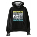 Boy Group Striped Inside Casual Loose Pullover Hoodie