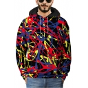 Cool Unique 3D Graffiti Printed Long Sleeve Sport Casual Pullover Drawstring Hoodie