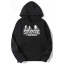 Stranger Things Classic Long Sleeve Figure Letter Printed Casual Unisex Hoodie