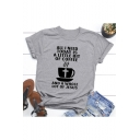 New Trendy Coffee Letter ALL I NEED TODAY IS A LITTLE BIT OF COFFEE Print Basic Casual Loose Unisex T-Shirt
