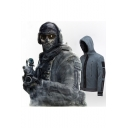 Call of Duty Modern Warfare 2 Stylish Cosplay Costume Patchwork Zip Up Fleece Hoodie