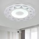 Diamond Design Surface Mount LED Light White Acrylic Eye Protection Flush Mount for Living Room