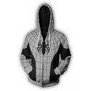 Cool Awesome 3D Printing Cosplay Costume Long Sleeve Full Zip Black Hoodie