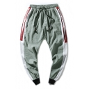 Mens New Fashion Letter Print Side Drawstring Waist Casual Loose Track Pants