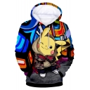 Pokemon Cool 3D Comic Character Printed Long Sleeve Pullover Hoodie