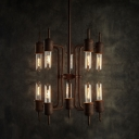 Retro Rust 10 Light Pendant with Punk Steam Design