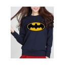 Women's Fashion Logo Printed Casual Loose Long Sleeve Pullover Sweatshirt