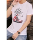 MADE FOR SKATE Letter Sneakers Shoes Printed Short Sleeve Graphic Tee