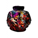 Cool 3D Painting Print Sport Casual Pullover Grey Hoodie