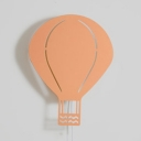 Hot Air Balloon 1 Light Wall Light Sconce Blue/Orange/White Metal Wall Lamp for Boys Girls Room
