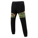 Mens New Trendy Tribal Printed Drawstring Waist Skinny Sport Sweatpants