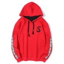 Simple Letter S Letter Long Sleeve Guys Street Fashion Oversized Hoodie
