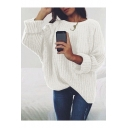 Hot Popular Long Sleeve Round Neck Plain Leisure Sweater