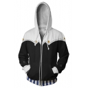 Persona 5 3D Printed Comic Cosplay Costume Sport Casual Zip Up Black Hoodie
