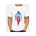 Cool Film Figure Printed Short Sleeve White T-Shirt