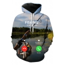 FISHING IS CALLING YOU Funny 3D Printed Long Sleeve Unisex Pullover Hoodie