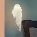 Acrylic Wing Hanging Ceiling Lamp Modernism Children Room Single Head Hanging Lamp in White